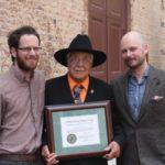 David Lee accepts the Brown-Hudson Award.