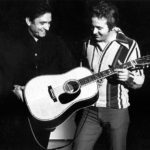 Johnny Cash presenting Chance with his Martin guitar