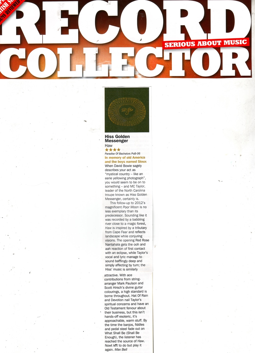 RecordCollectorAlbumReviewApril2013
