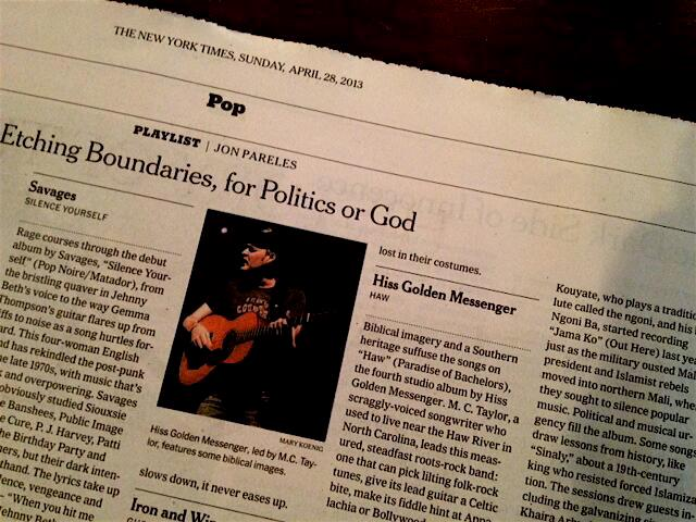 HGM in the New York Times.